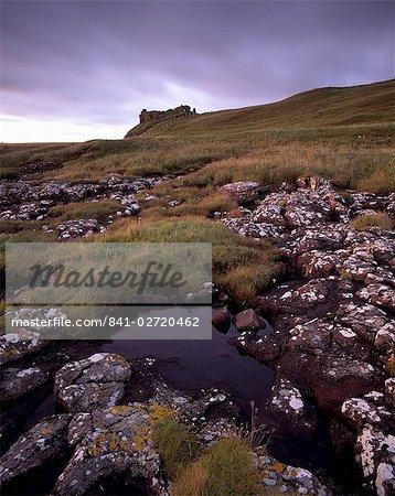 Ruines de Duntulm Castle, Trotternish, île de Skye Macdonald mènent, Hébrides intérieures, région des Highlands, Ecosse, Royaume-Uni, Europe