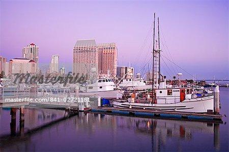 Port de thon et Hyatt Hotel, San Diego, Californie, États-Unis d'Amérique, l'Amérique du Nord
