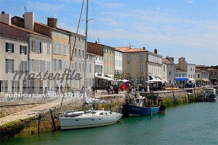 Port et quais, Saint Martin de ré, Ile de ré, Charente-Maritime, France, Europe