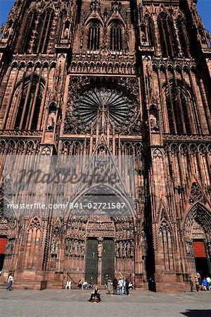 Notre-Dame-de-cathédrale, Strasbourg, Alsace, France, Europe
