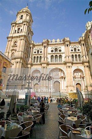Cathedral, Malaga, Andalucia, Spain, Europe