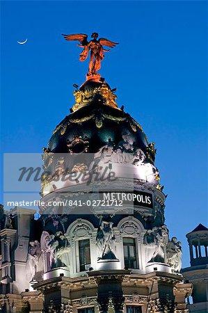 Immeuble Metropolis, Madrid, Espagne, Europe