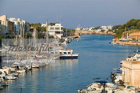 Port de Ciutadella, Minorque, îles Baléares, Espagne, Méditerranée, Europe