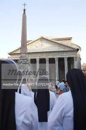 Place de la rotonde et Panthéon, Rome, Lazio, Italie, Europe