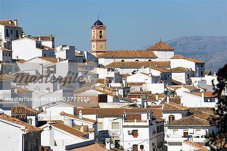 Église Nuestra Señora del Rosario, Algatocin, l'un des villages blancs, province de Malaga, Andalousie, Espagne, Europe