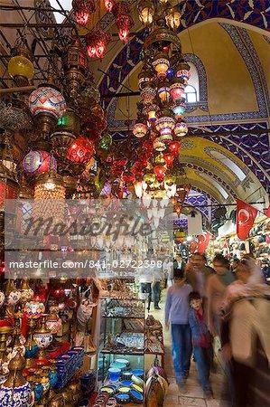 Grand Bazar (Kapali Carsi), Istanbul, Turquie, Europe