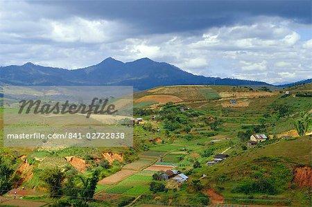 Hauts plateaux du centre du typique paysage, près de Dalat, Vietnam, Asie
