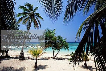 West Bay, à l'extrémité ouest de Roatan, la plus grande des îles de la baie, le Honduras, Caraïbes, Amérique centrale