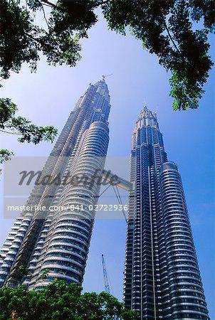Le tours jumelles de Petronas, Kuala Lumpur, en Malaisie, Asie