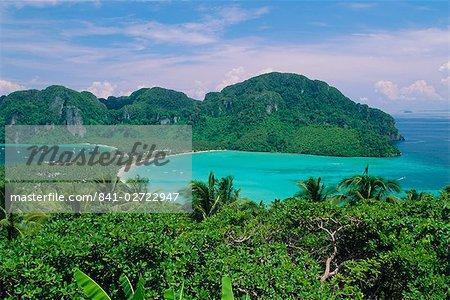 Koh Phi Phi, limestone island that typifies the coastline around Phuket and Krabi, Thailand, Asia