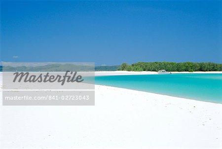 Whitehaven Beach sur la côte est, l'île de Whitsunday, Queensland, Australie