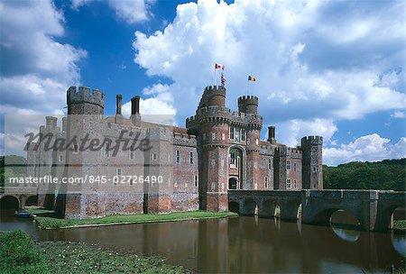 Herstmonceaux Castle, Hailsham, East Sussex, England, 15th century.