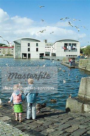 Reykjavik City Hall, Reykjavyk, Iceland. 1987. Architect: Studio Granda