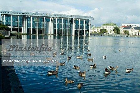 Reykjavik City Hall, Reykjavik, Iceland. 1987-1992. Exterior City Council Building (East). Architect: Studio Granda