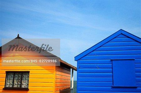 Beach huts, Suffolk, UK