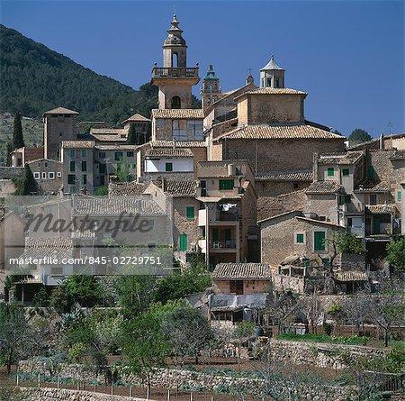 Valldemosa, Majorque, îles Baléares. Ville de montagne.