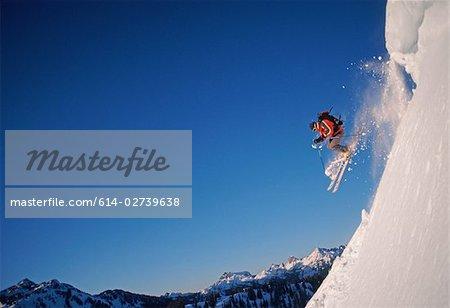 Skieur au point de l'artiste
