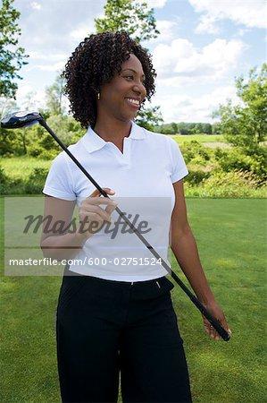 Porträt von Golfer