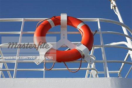 Gilet de sauvetage sur le Ferry