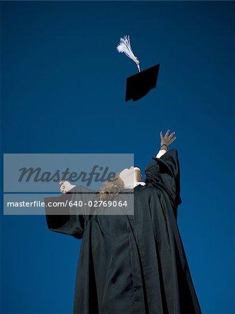 Female student celebrating graduation