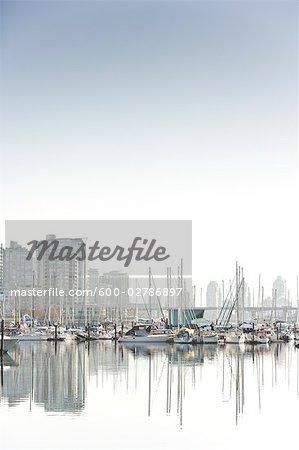 Marina at False Creek, Vancouver, British Columbia, Canada