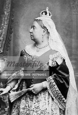 PORTRÄT PROFIL KÖNIGIN VICTORIA REGIERTE VON 1837-1901 ENGLAND BRITISCHE EMPIRE VIKTORIANISCHEN ÄRA