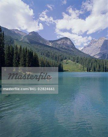 Lac Emerald, Parc National Yoho, patrimoine mondial de l'UNESCO, montagnes Rocheuses, (Colombie-Britannique), Canada, Amérique du Nord