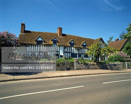 Maison de Mary Ardens, Stratford-on-Avon, Warwickshire, Angleterre, Royaume-Uni, Europe