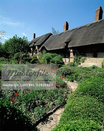 Cottage d'Anne Hathaway, Shottery, Stratford-on-Avon, Warwickshire, Angleterre, Royaume-Uni, Europe