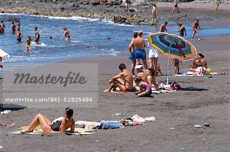 Playa de Gran Rey, La Gomera, Canary îles en Espagne, l'océan Atlantique, l'Europe