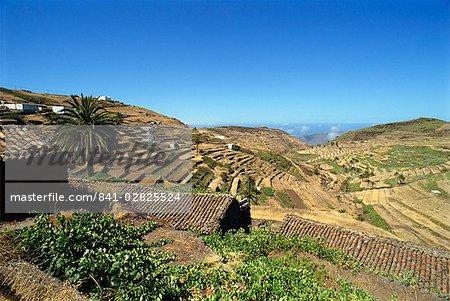 Zone sud-est près de Las Hayas, La Gomera, Iles Canaries, Espagne, Atlantique, Europe