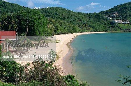 Près de plage de Grand Anse, Grenade, îles sous-le-vent, Antilles, Caraïbes, Amérique centrale