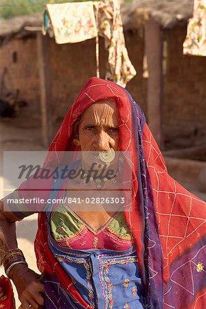 Elderly lady from village, near Jodhpur, Rajasthan state, India, Asia