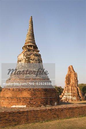 Ruins at Mahathat Temple, Ayutthaya Historical Park, Ayutthaya, Thailand