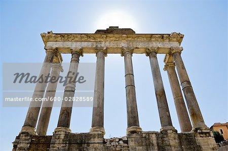 Temple de Saturne, Forum romain, Rome, Latium, Italie