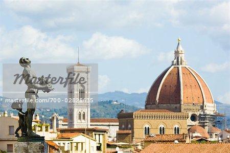 View of Santa Maria del Fiore From Boboli Gardens, Florence, Tuscany, Italy