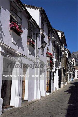 Scène de rue, Grazalema, Andalousie, Espagne, Europe
