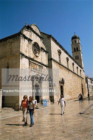 Church, Stradun, Dubrovnik de St. Saviour, Dalmatie, Croatie, Europe
