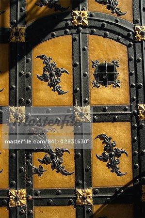 Porte à Neues Rathaus, Munich, Bavière, Allemagne, Europe