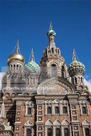 Église de notre Sauveur sur déversés sang, Site du patrimoine mondial de l'UNESCO, Saint-Pétersbourg, en Russie, Europe