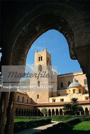 Duomo et le cloître, Monreale, Sicile, Italie, Europe