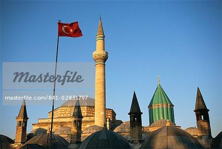 Mevlana Museum complex, Konya, Anatolia, Turkey, Asia Minor, Eurasia
