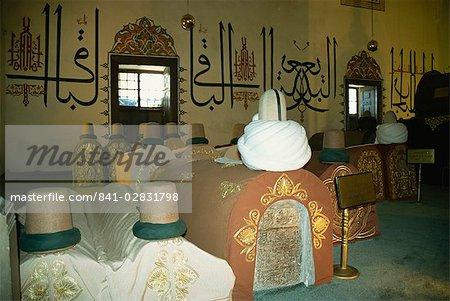 Sarcophagi of holy men, Mevlana Museum, Konya, Anatolia, Turkey, Eurasia