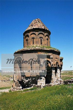 Arménien église de Saint-Grégoire, datant de 1215, Ani, l'UNESCO Site du patrimoine mondial, au nord-est de l'Anatolie, Turquie, Asie mineure, Eurasie