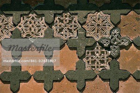 Détail de la pierre, le palais turc seldjoukide, Ani, nord-est de l'Anatolie, Turquie, Asie mineure, Eurasie