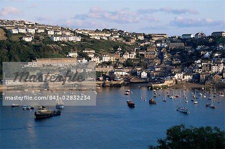 Polruan et fleuve Fowey, Cornwall, Angleterre, Royaume-Uni, Europe