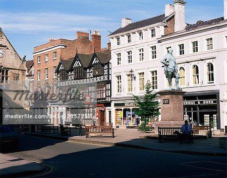 Statue of Clive of India in the Square, Shrewsbury, Shropshire, England, United Kingdom, Europe