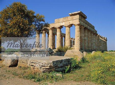 Temple E (5ème siècle avant JC), Selununte, Sicile, Italie