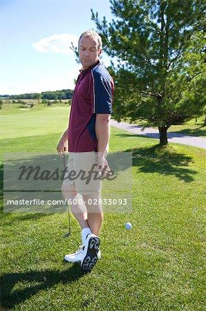 Golfspieler, die betrügen