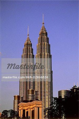 Malaisie, Kuala Lumpur, Petronas Twin Towers.